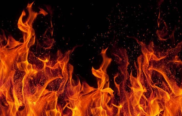 при возникновении пожара