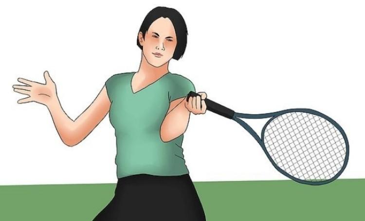 Теннис удар