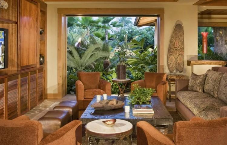 Гавайский стиль в интерьере квартиры