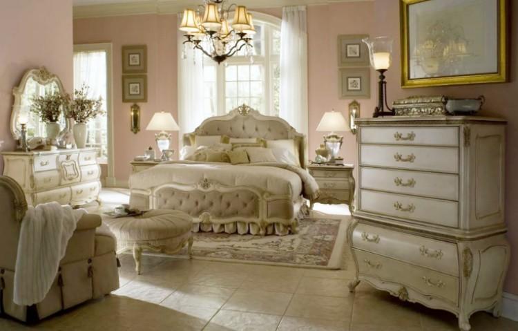 оформить спальню в стиле винтаж