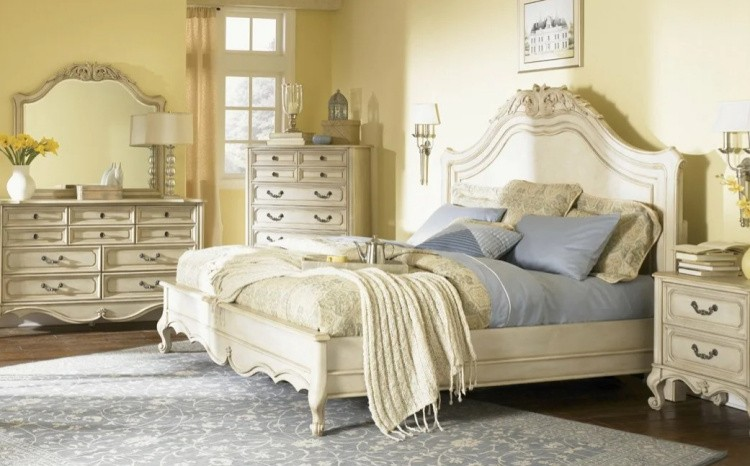 оформить спальню в стиле винтаж фото